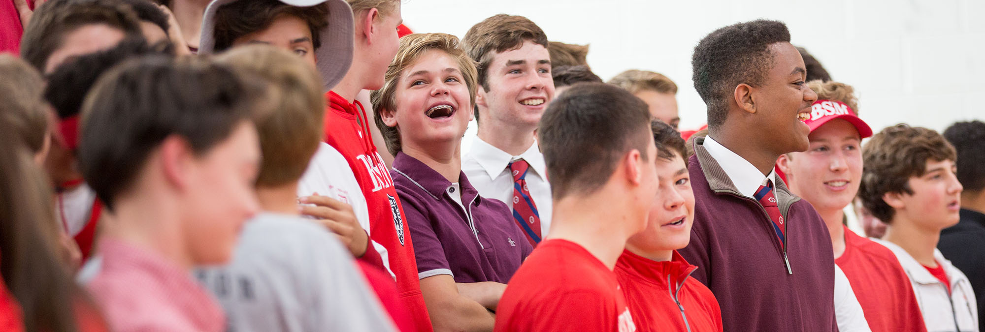 Students laugh at pep fest
