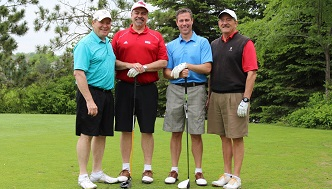 alumni at the annual joranger golf tournament