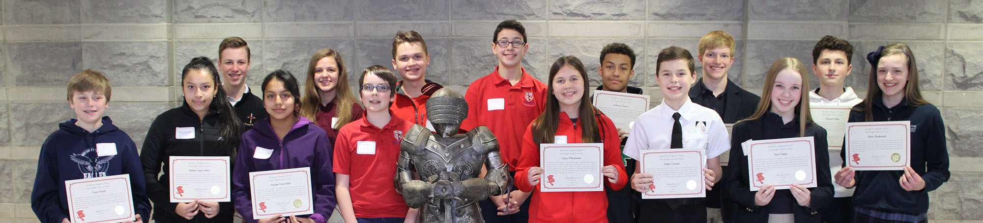 Partner school students attend Red Knight Achiever Lunch.
